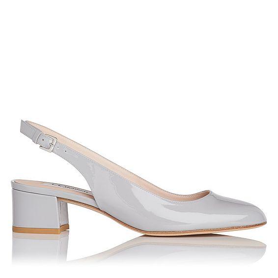 Chloe Grey Patent Heel