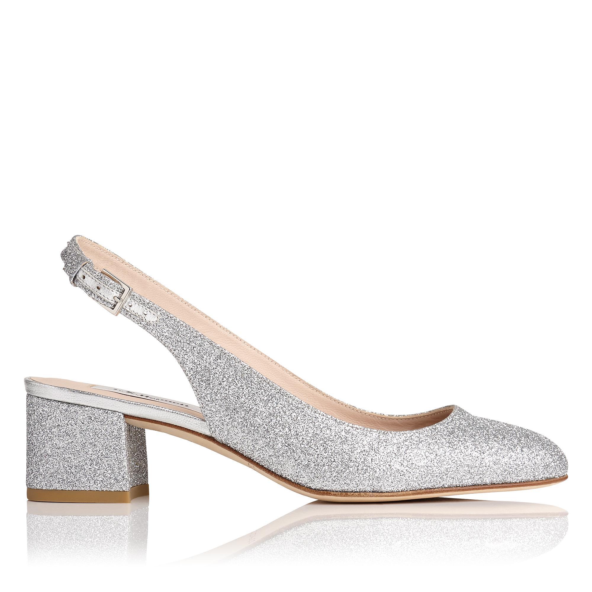 Chloe Silver Glitter Heel