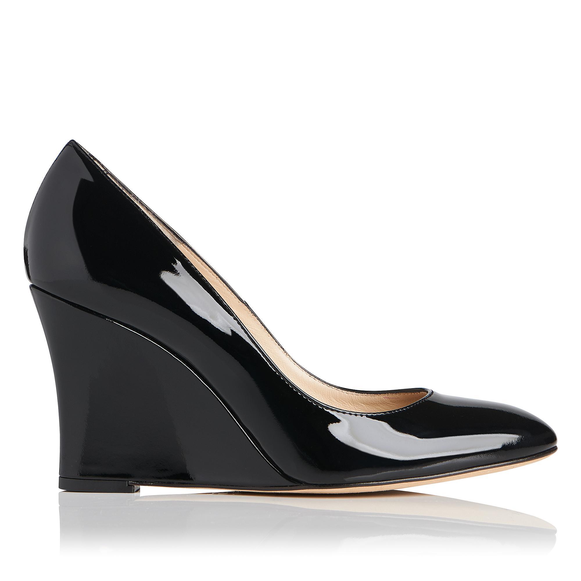 b694b5d0cf6 Esmeralda Black Patent Leather Wedge