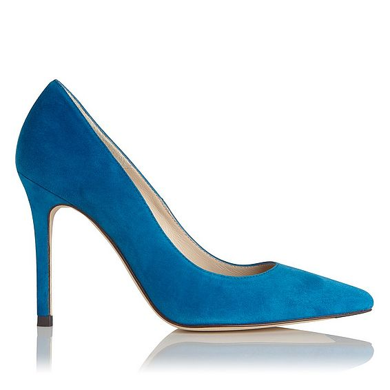 Fern Blue Ocean Suede Heel