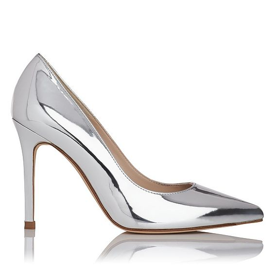 Fern Mirror Metallic Heel