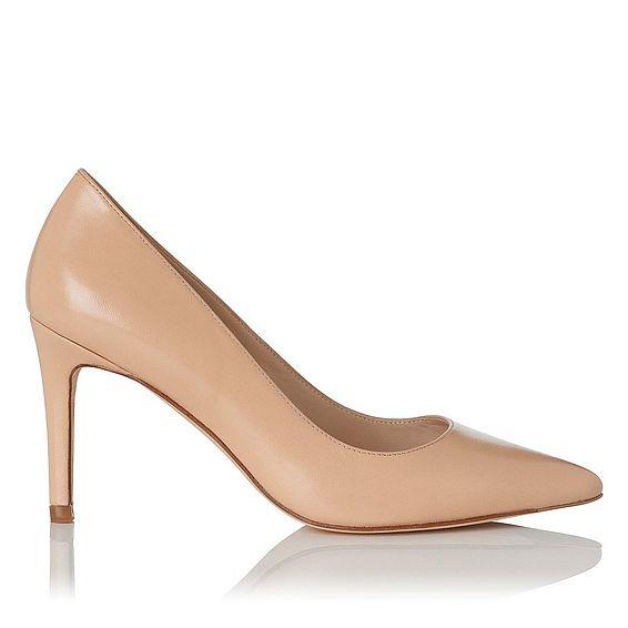 Floret Leather Heel