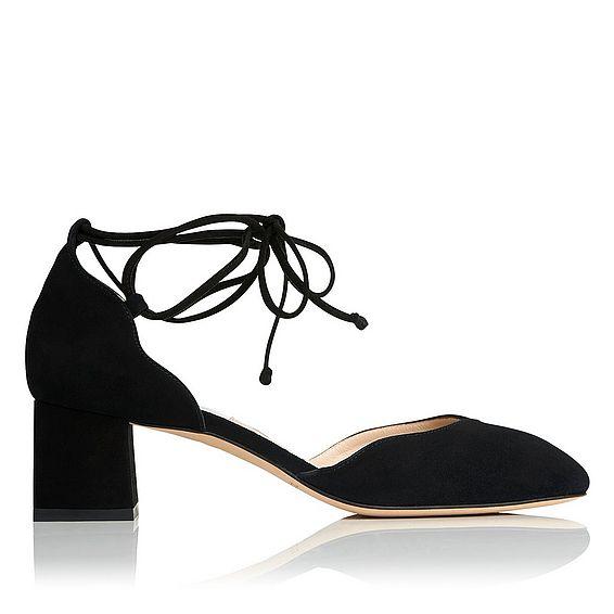 Lali Black Suede Heel