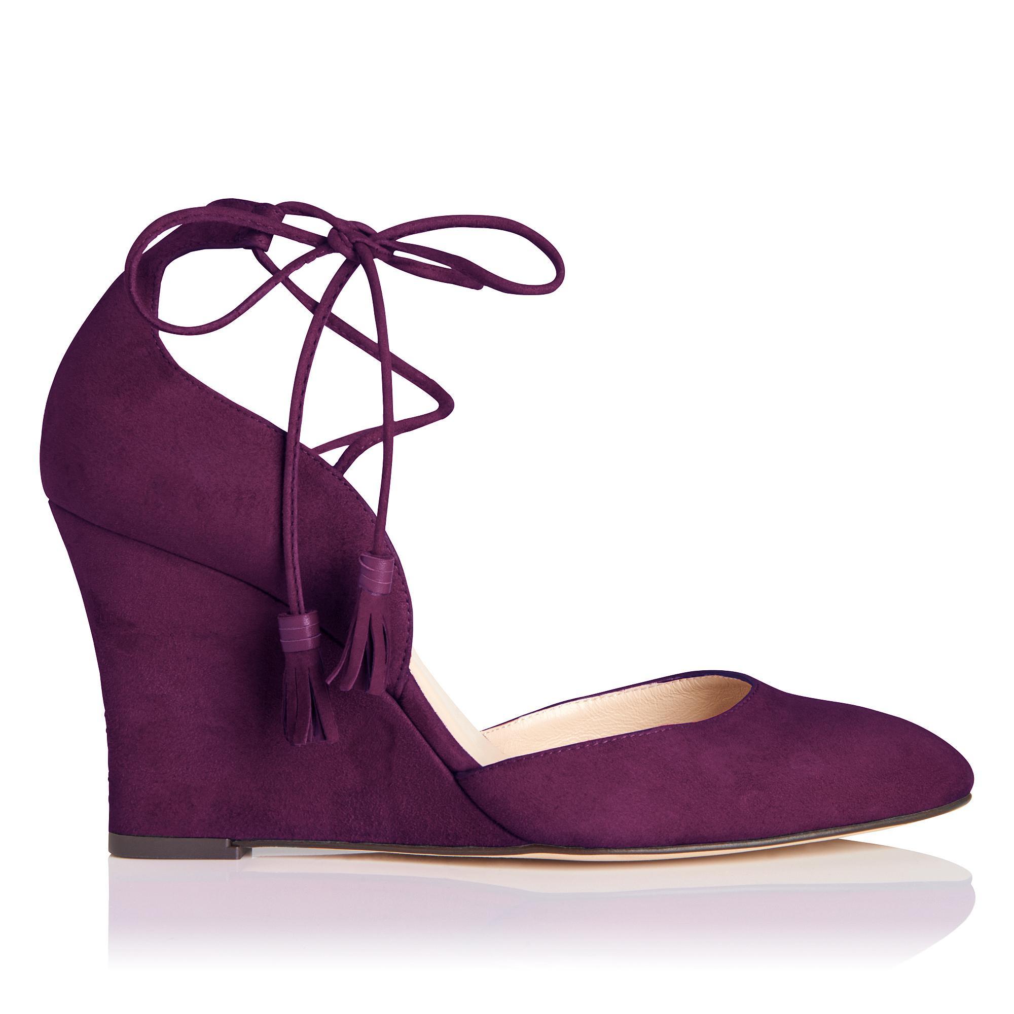 Leticia Purple Suede Wedge