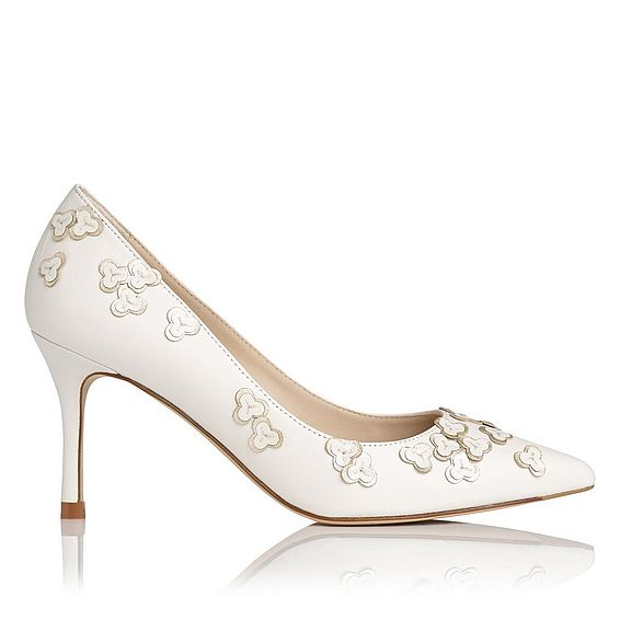 Lilly White Floral Heel