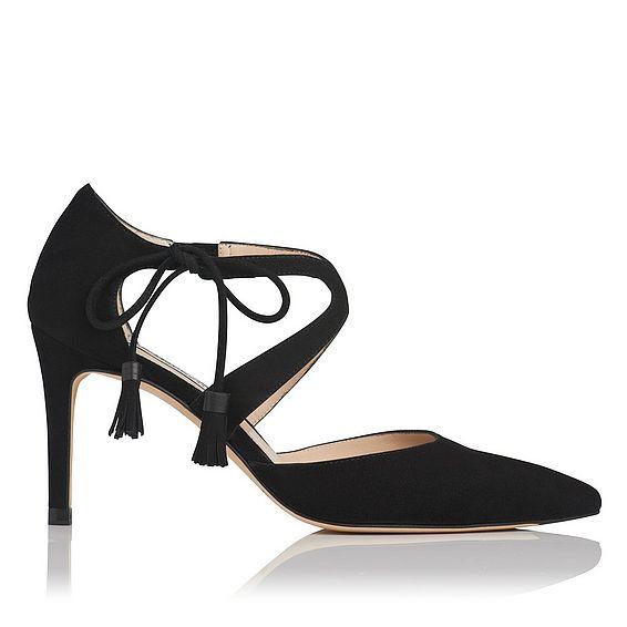 Loren Black Suede Heel