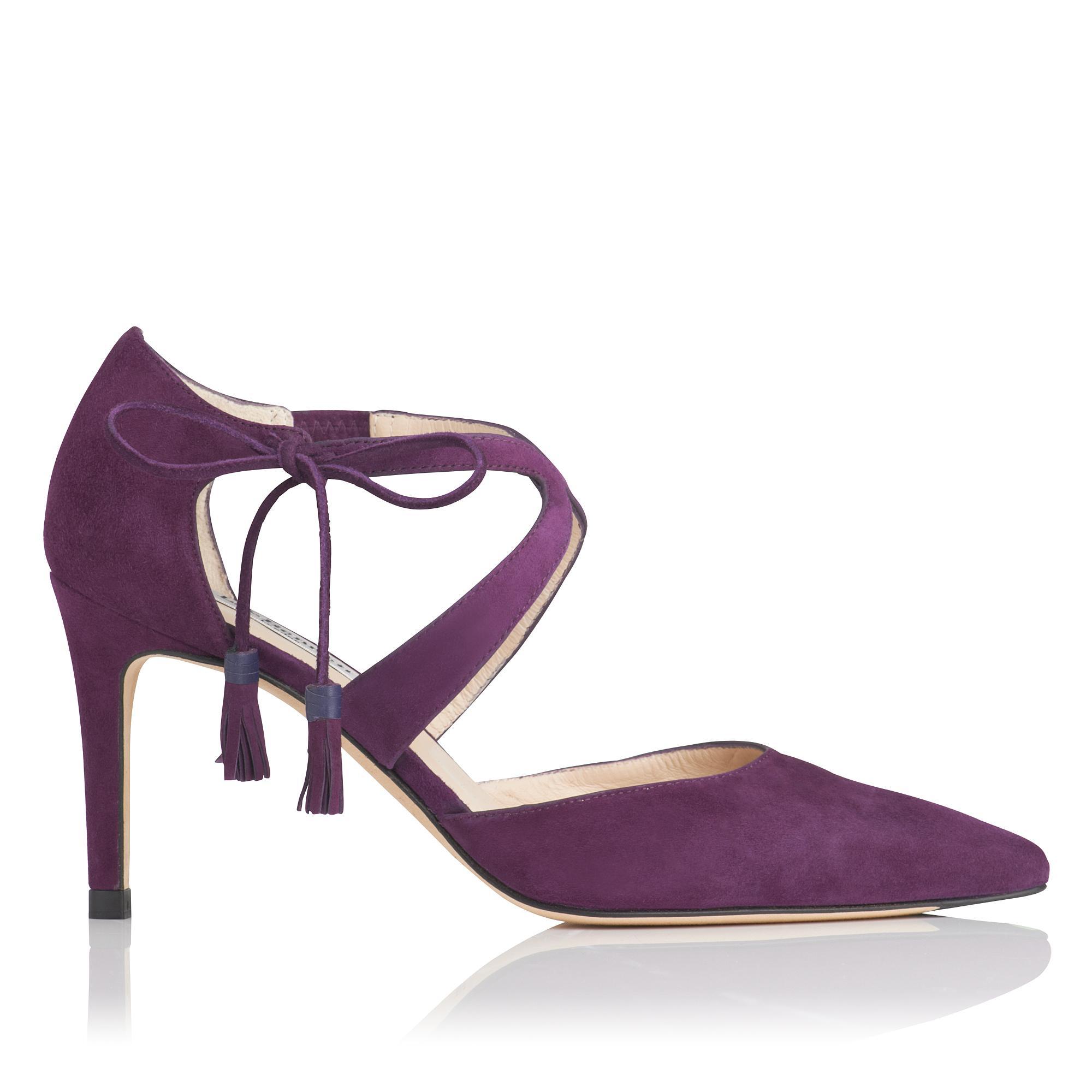 Loren Purple Suede Heel