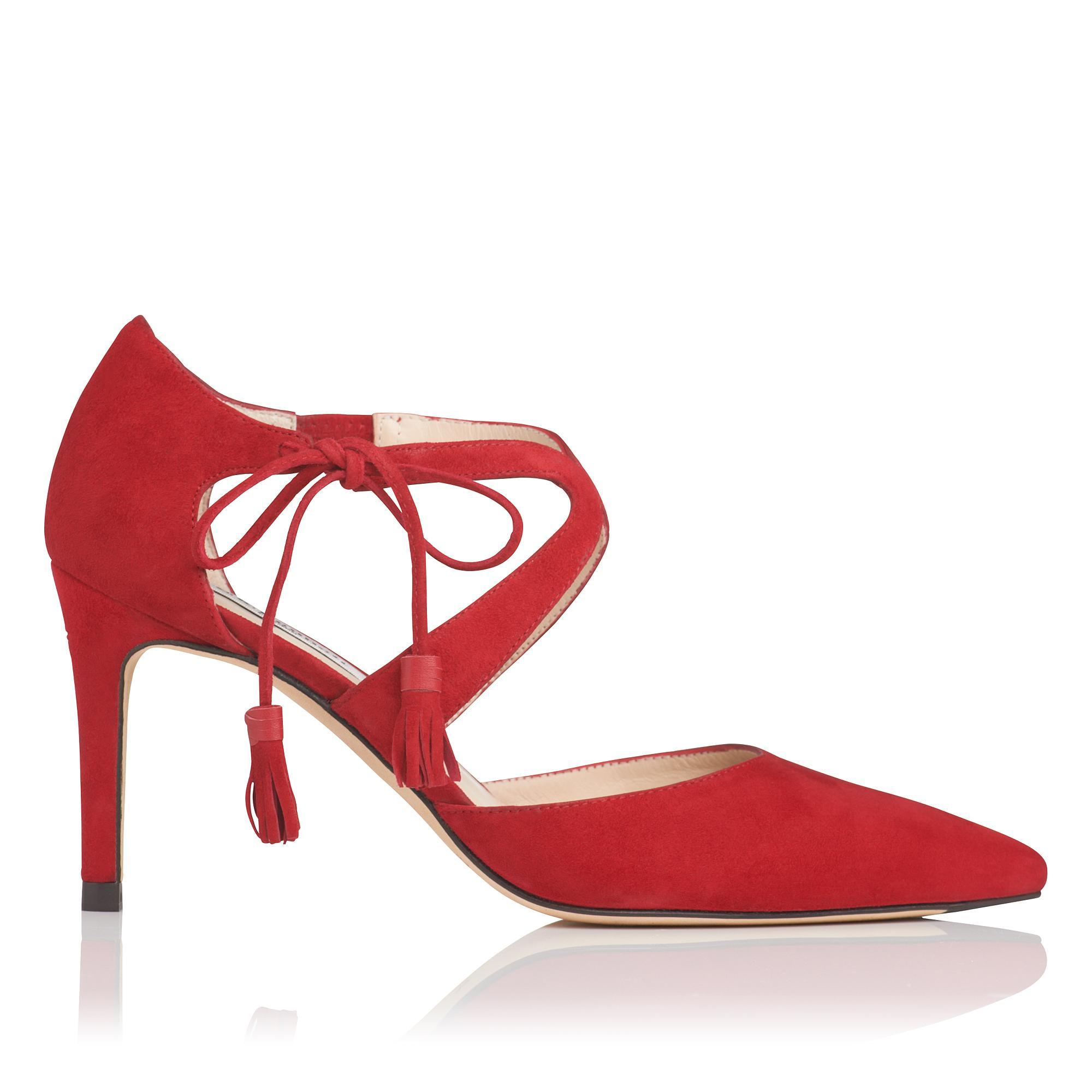 Loren Red Suede Heel