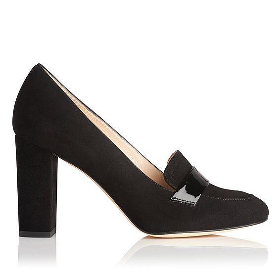 Madeleine Black Suede Heel