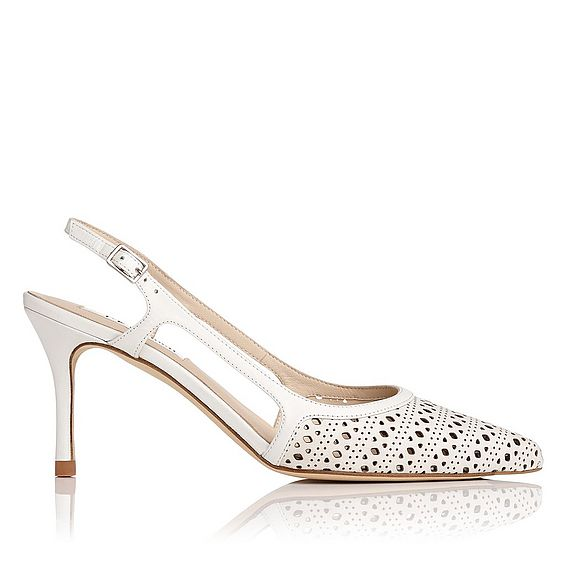 Mitzi White Leather Heel