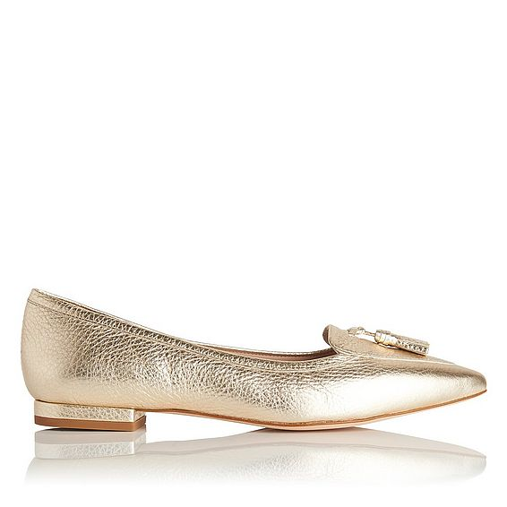 Dixie Gold Metallic Flats