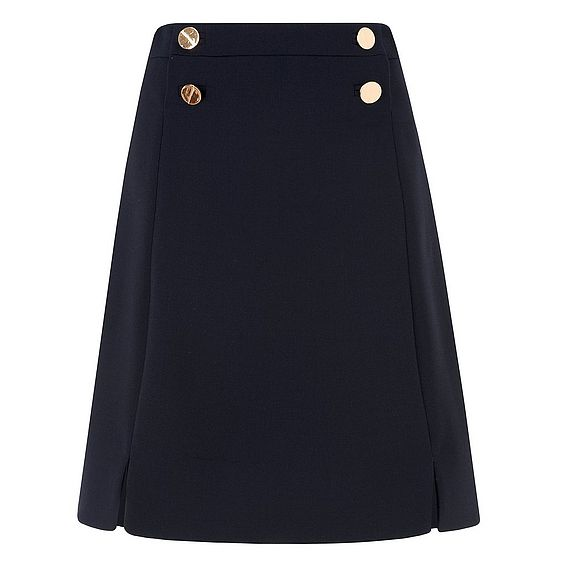 Bay Button Detail Skirt