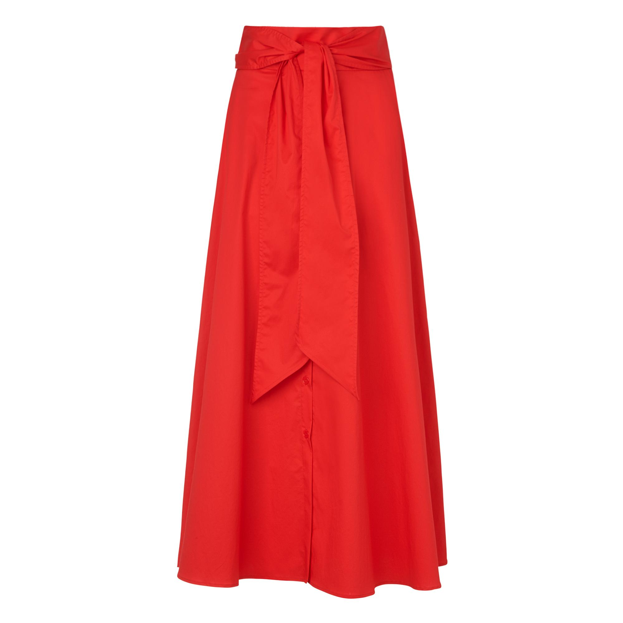 Darly Red Cotton Skirt