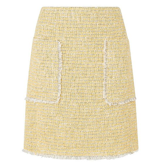 Rafia Yellow Skirt