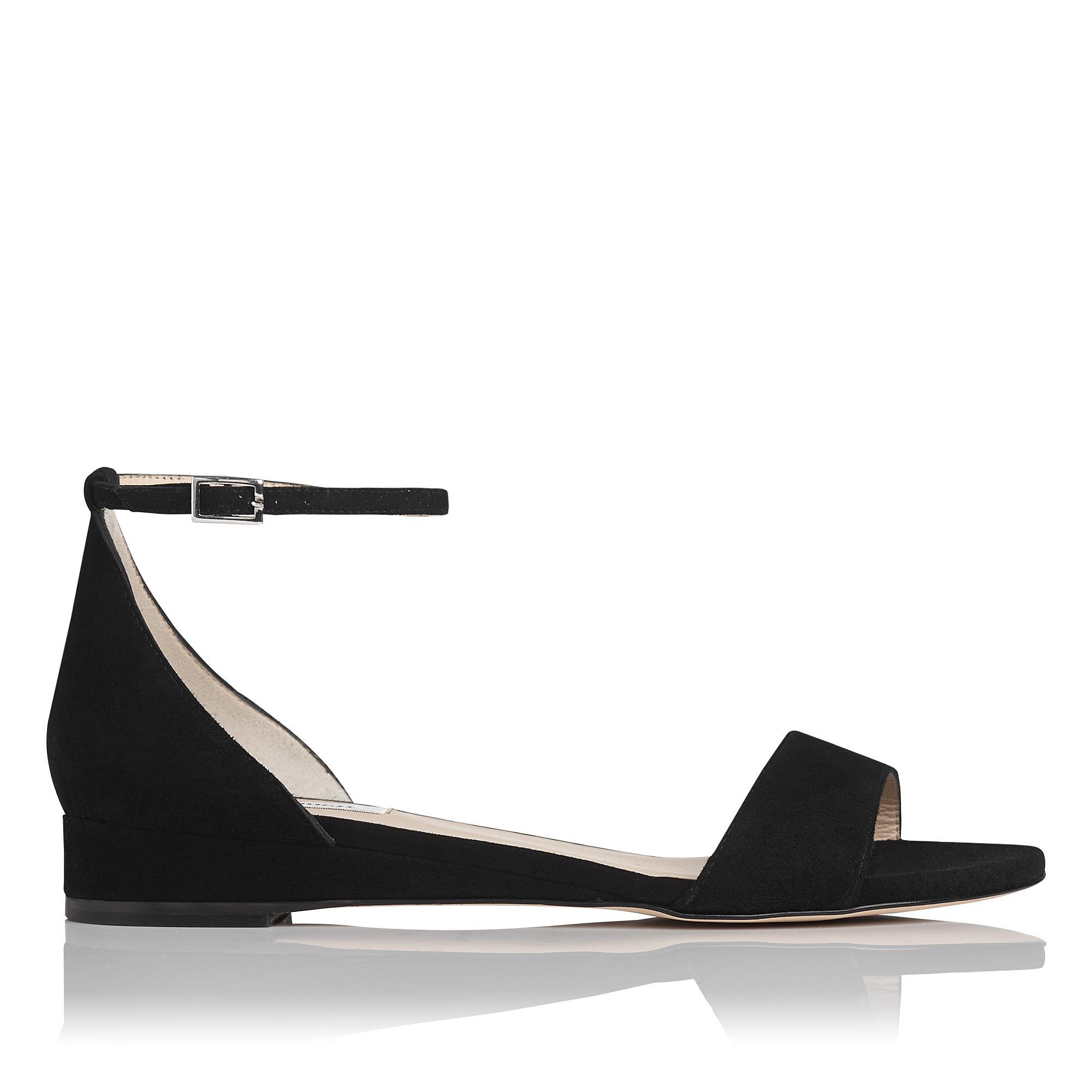 Cai Black Suede Sandal