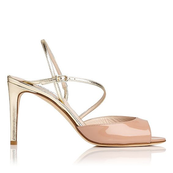 Camilla Nude and Gold Sandal