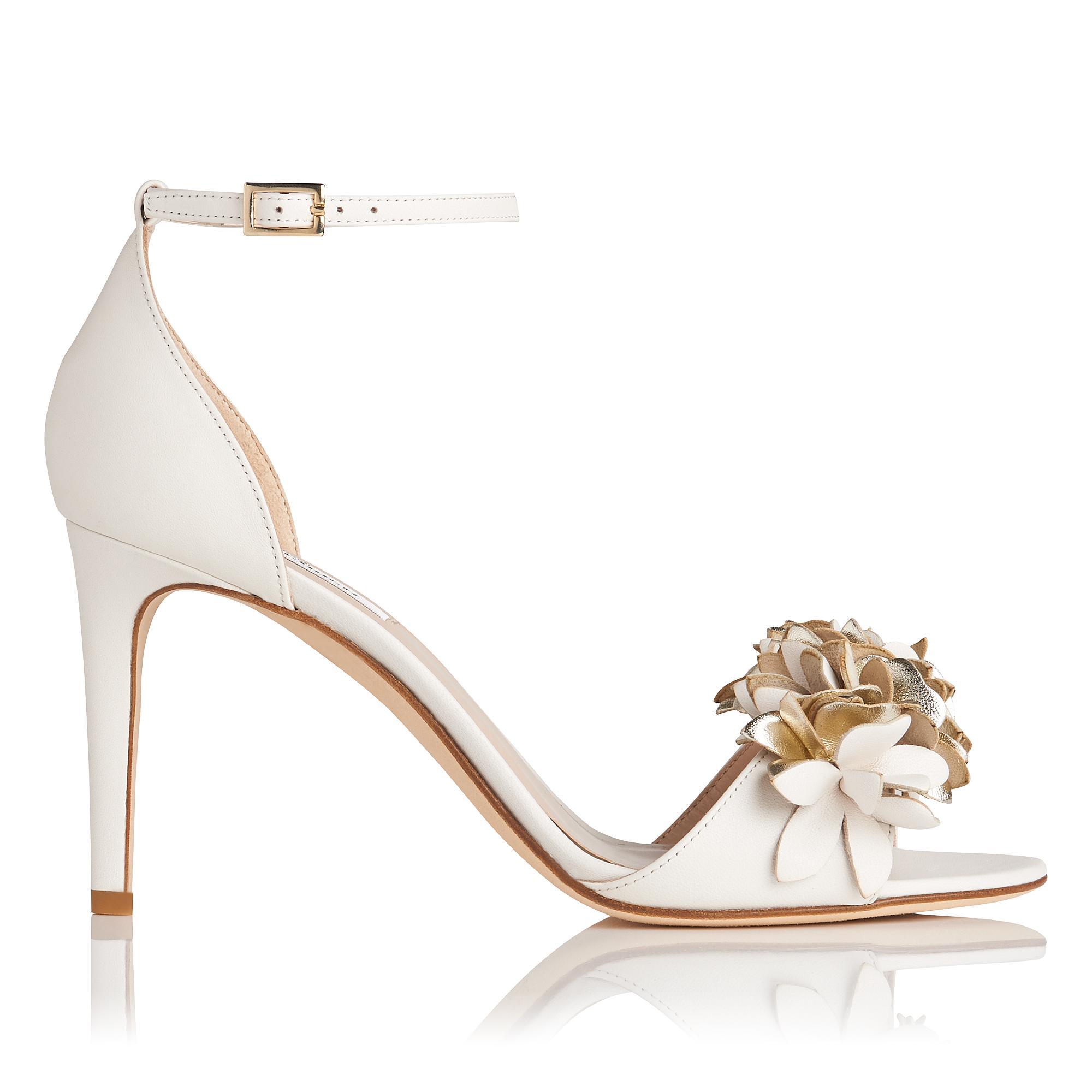 Claudie White Floral Sandal