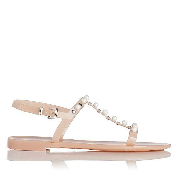 Freja Pink Pearl Embellished Sandal