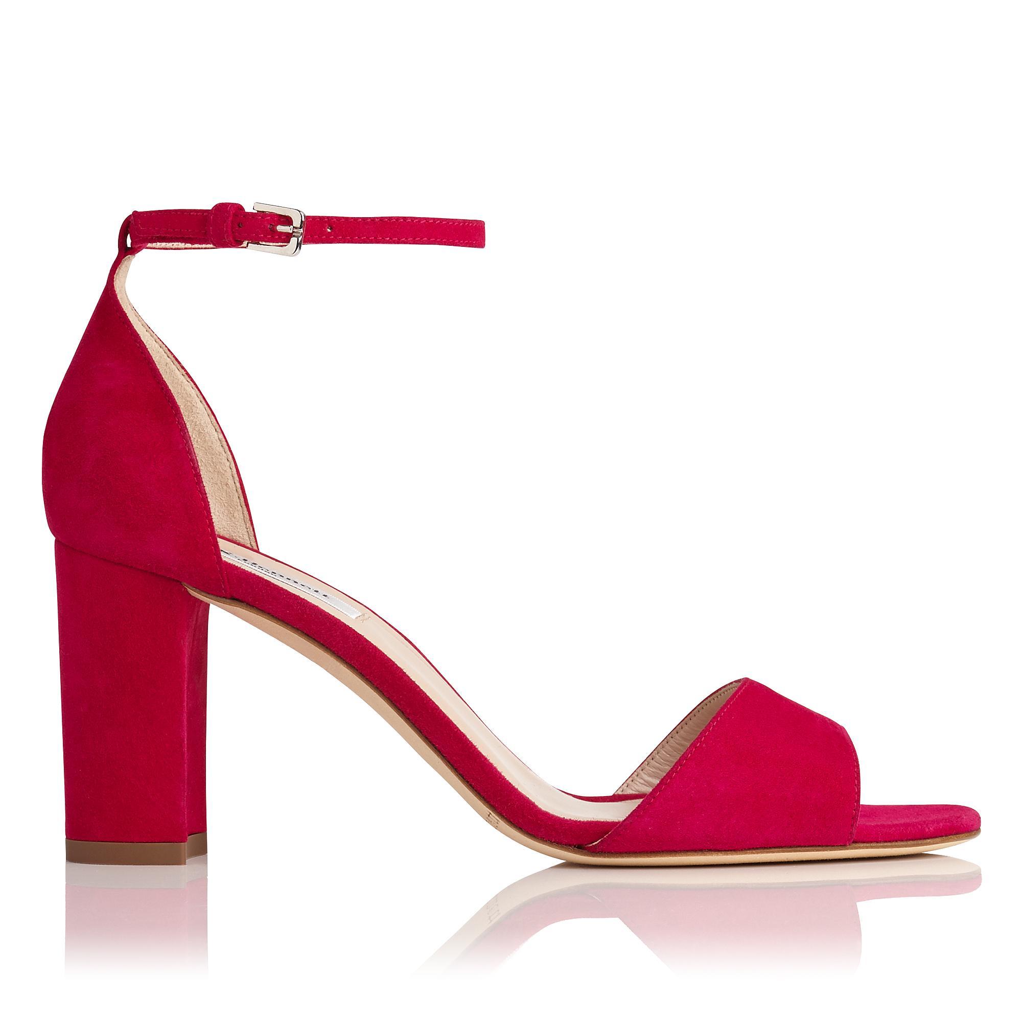 Helena Pink Suede Sandal