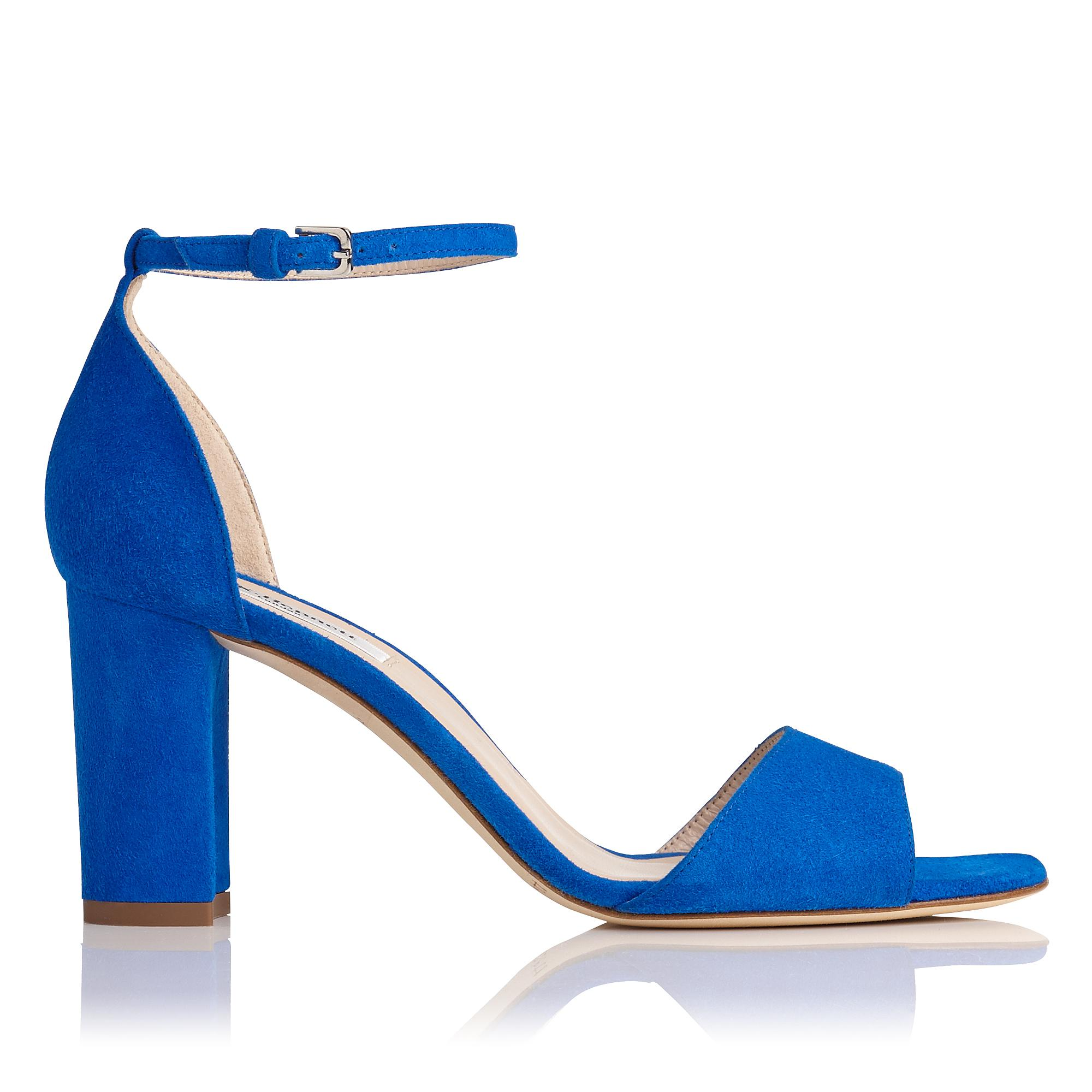 Helena Blue Majorelle Suede Sandal