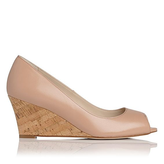 Kiki Nude Leather Wedge | Wedges | Shoes | Collections | L.K. ...
