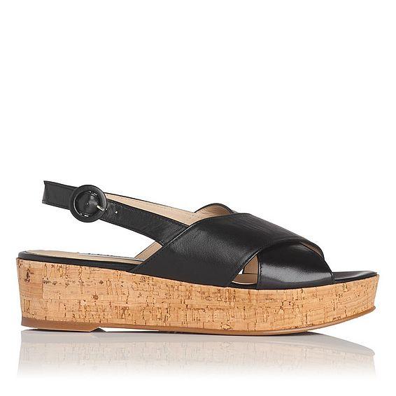 Klara Black Platform Sandal