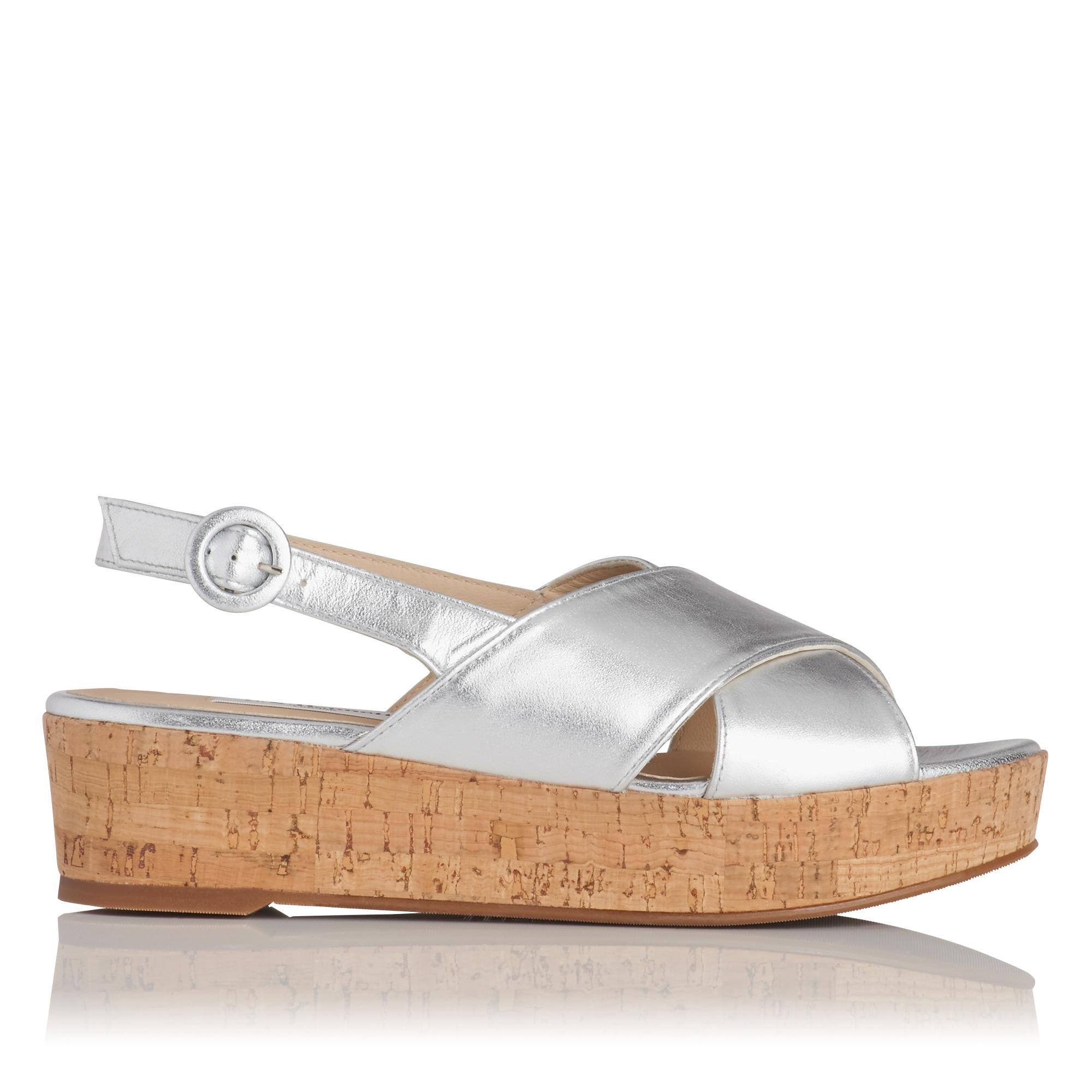 Klara Silver Platform Sandal
