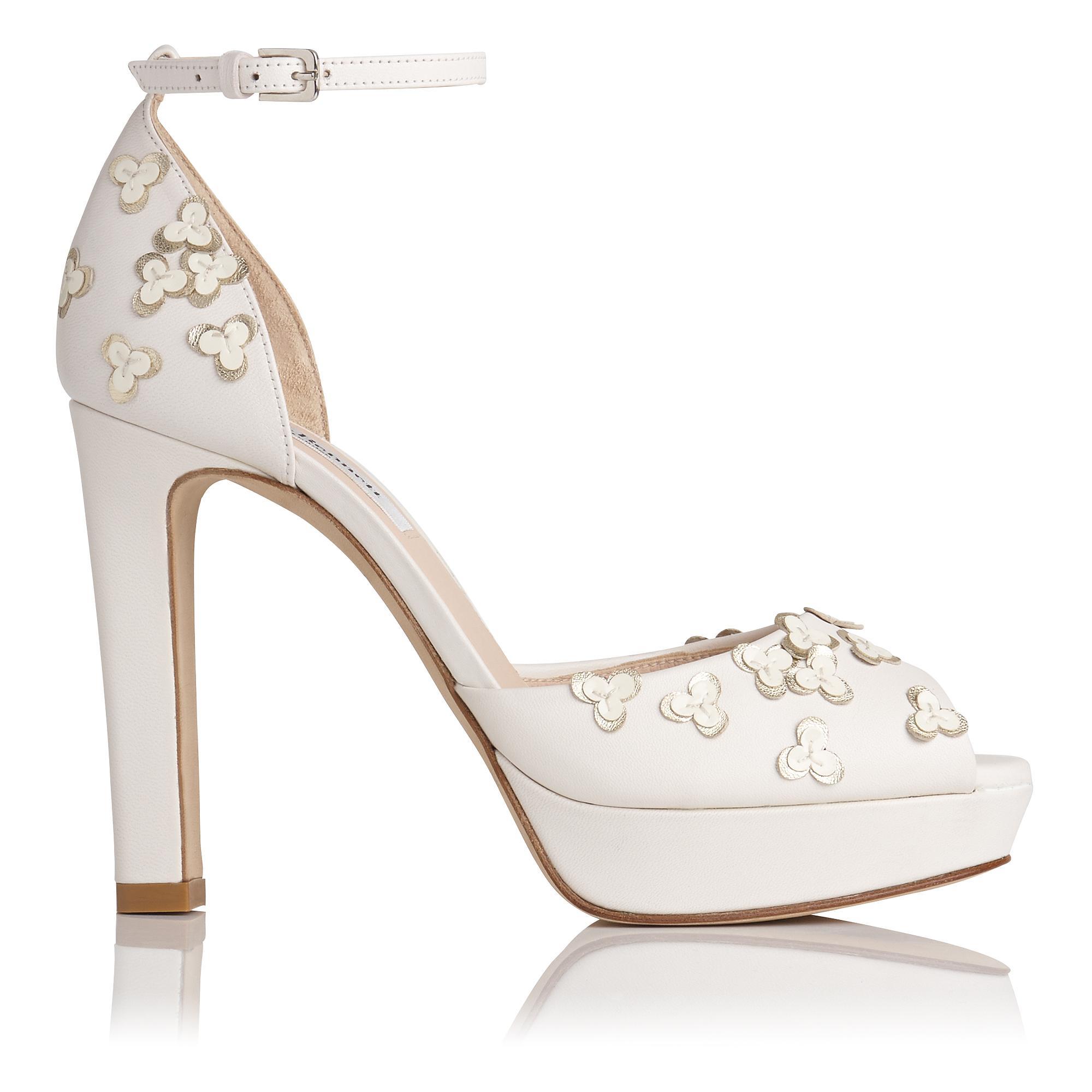 Luce White Floral Sandal