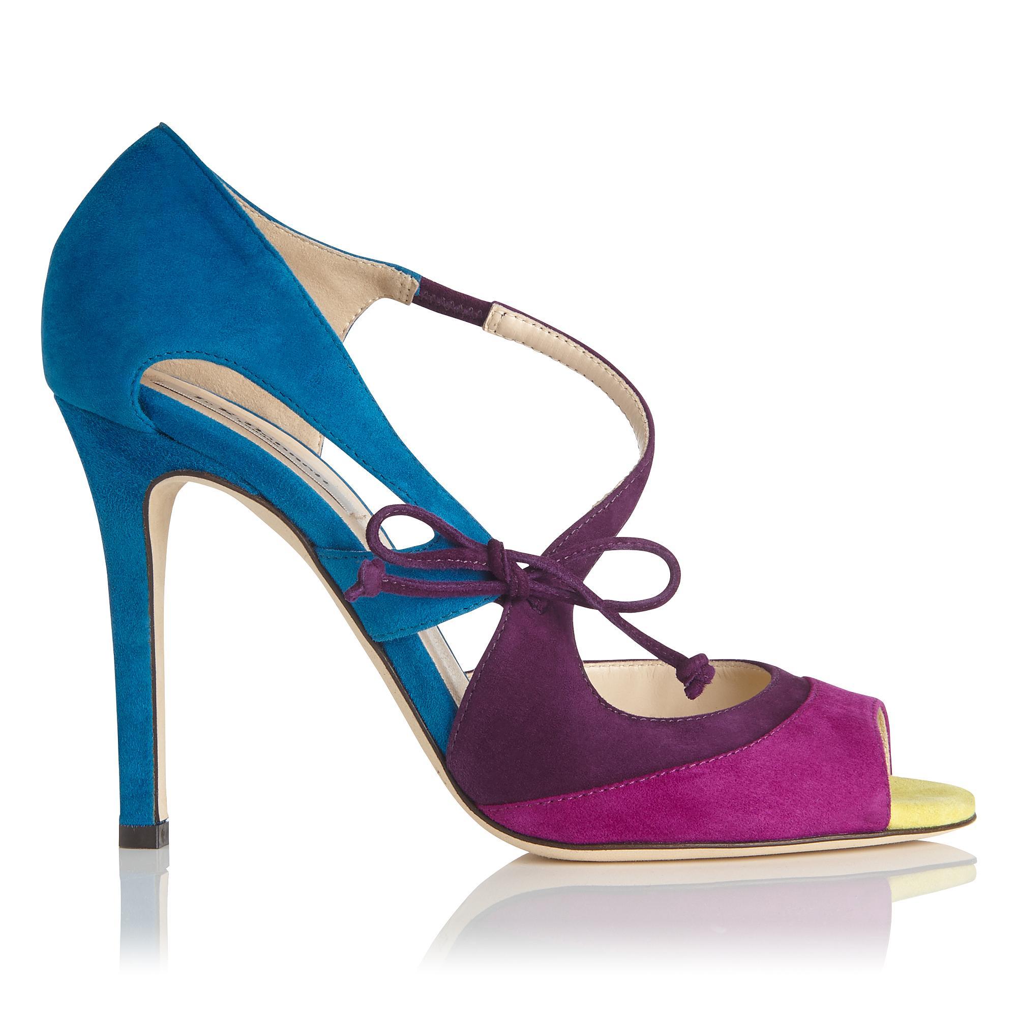 Lucile Multi Color Suede Sandal