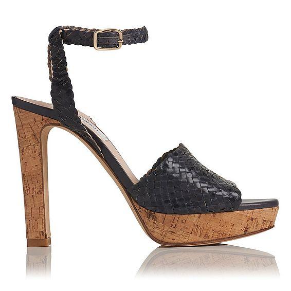 Margot Navy Woven Sandal