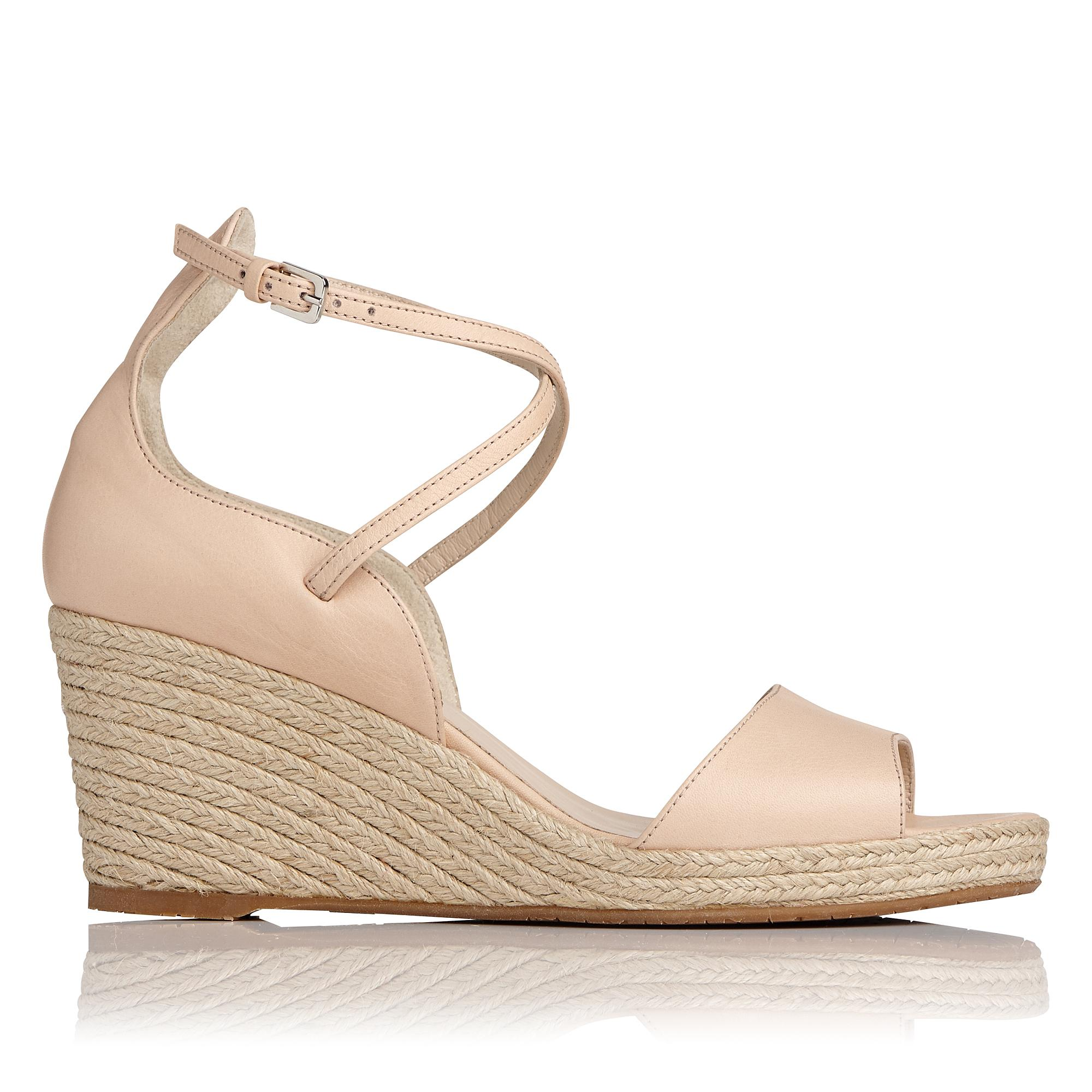 Nellie Pink Wedge Sandal