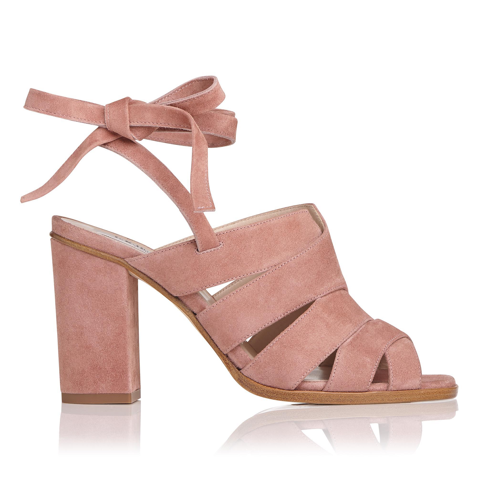Seline Pink Suede Sandal