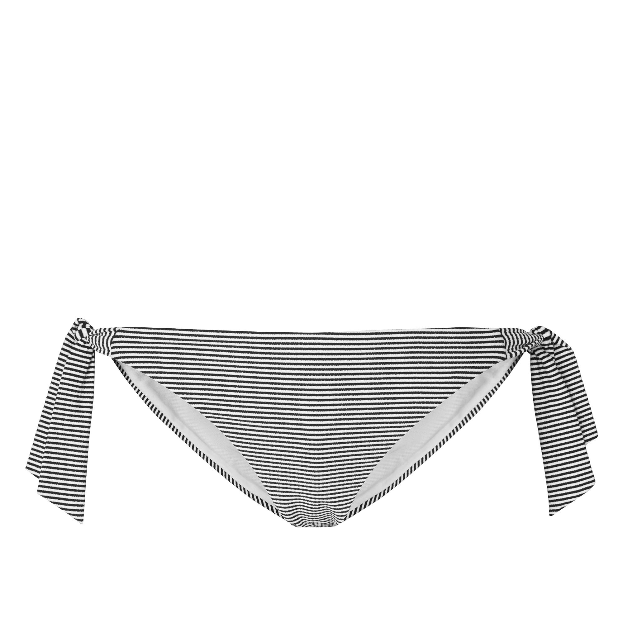 Claudine Black and White Stripe Bikini Bottom