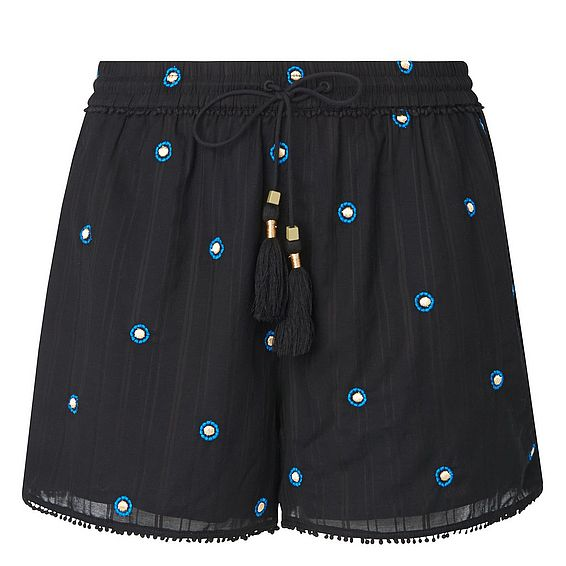 Janelle Black Beach Shorts