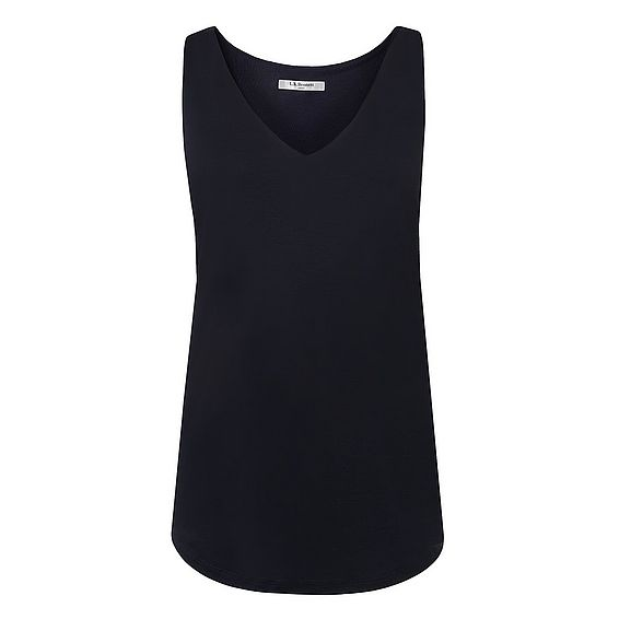Ada Navy V Neck Top