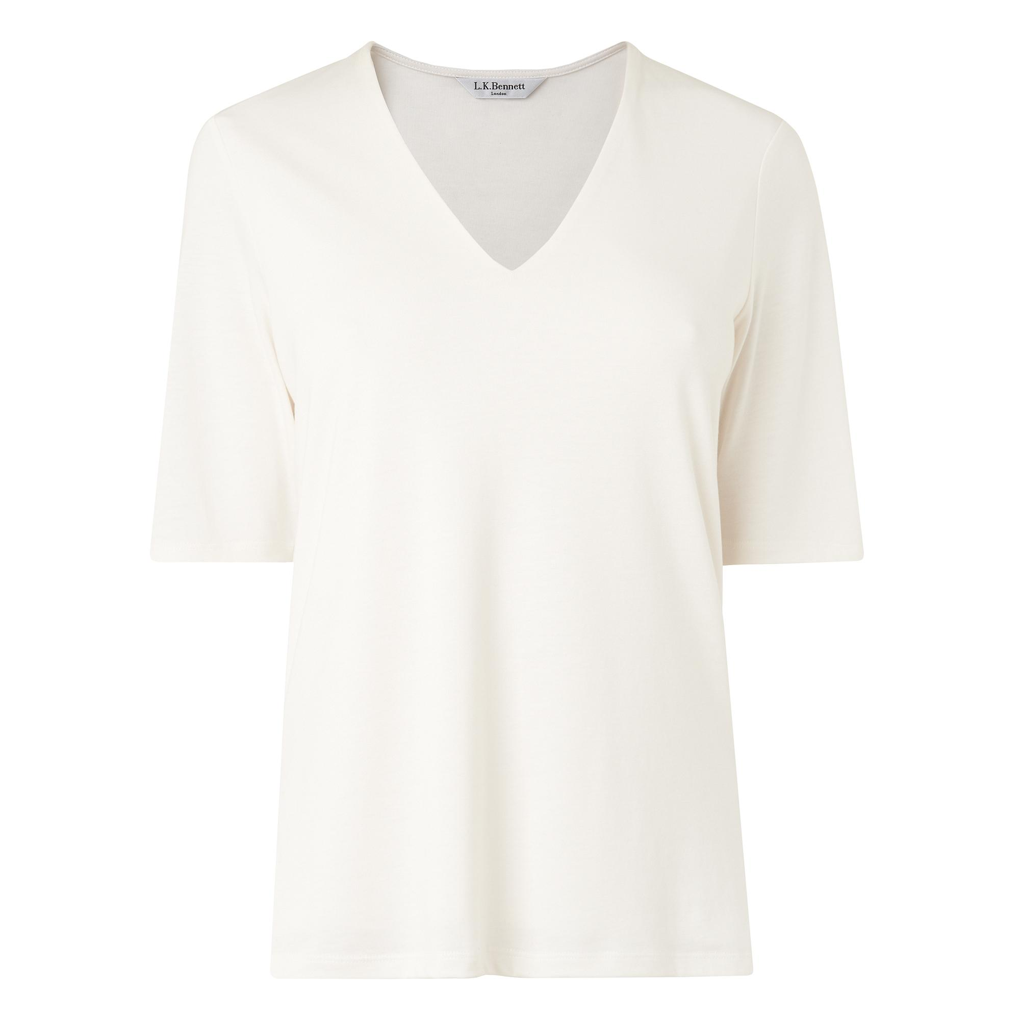 L.K.Bennett Orla V Neck Top
