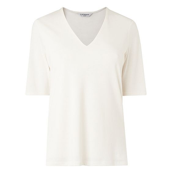 Orla Cream V Neck Top