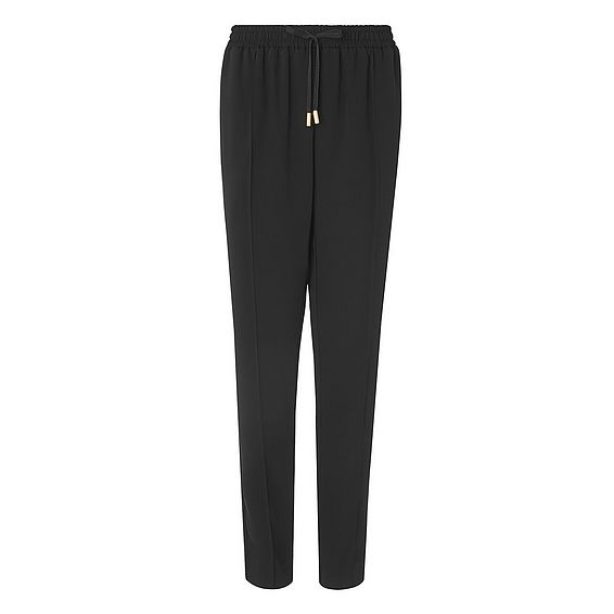 Hilly Black Drawstring Pants