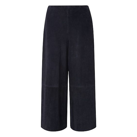 Suzi Navy Suede Trousers