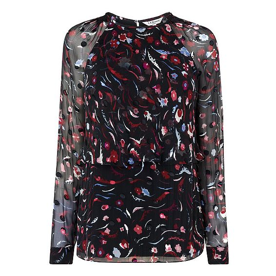 Ally Printed Silk Top