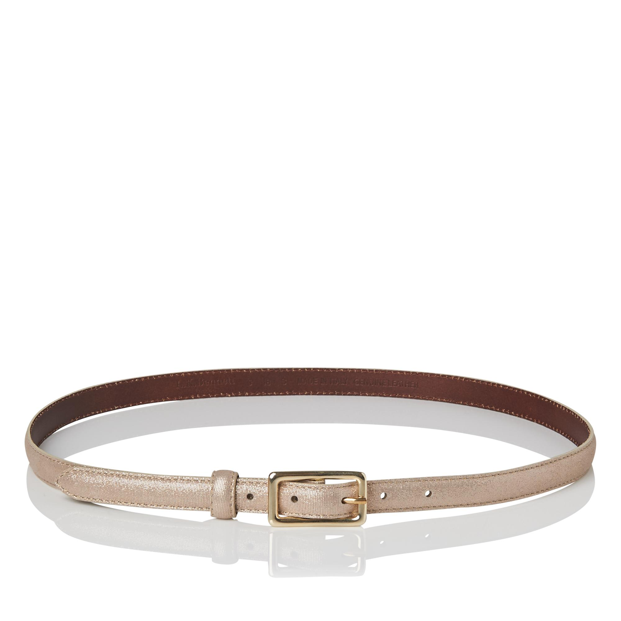 Glenda Gold Metallic Belt