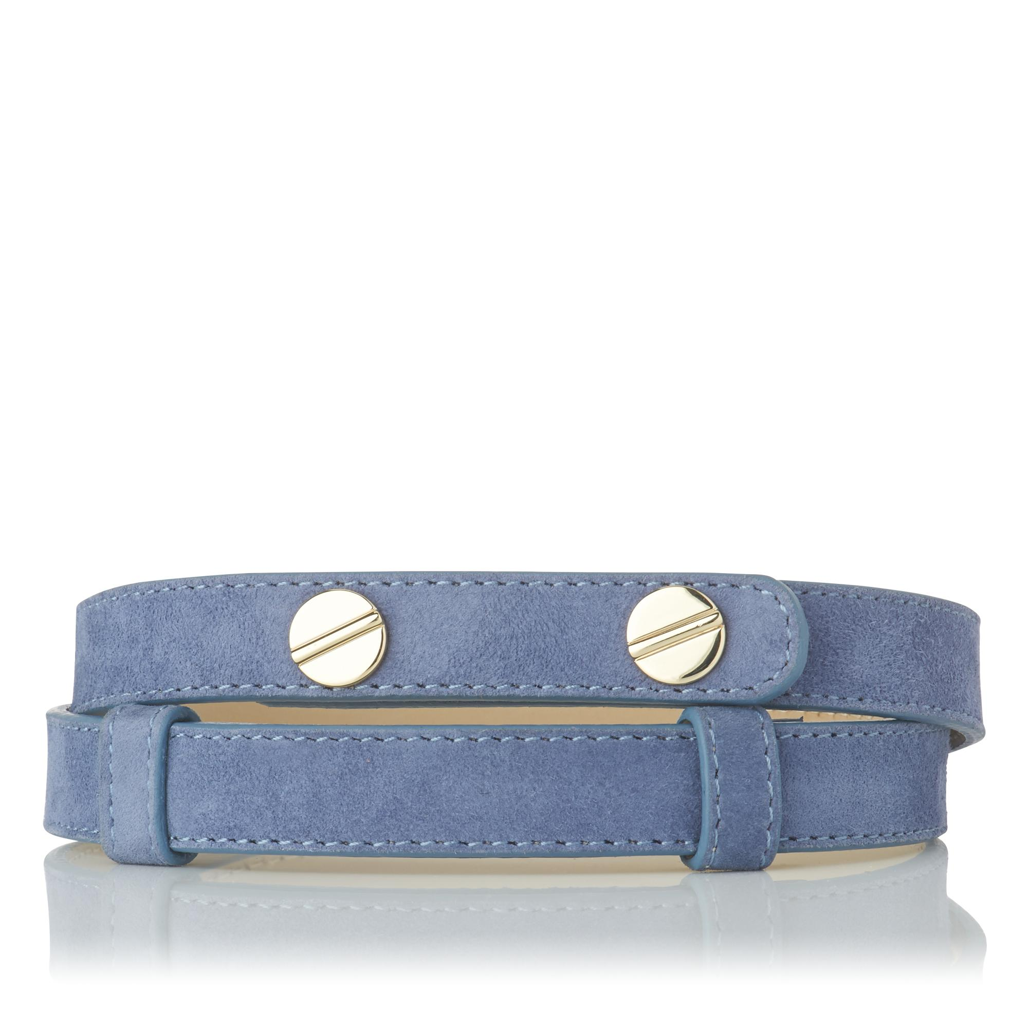 Zahara Blue Suede Belt