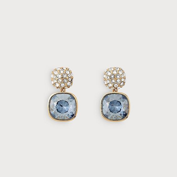 Erin Blue and Gold Crystal Earrings