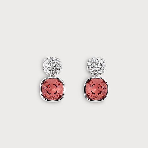 Erin Pink Crystal Earrings