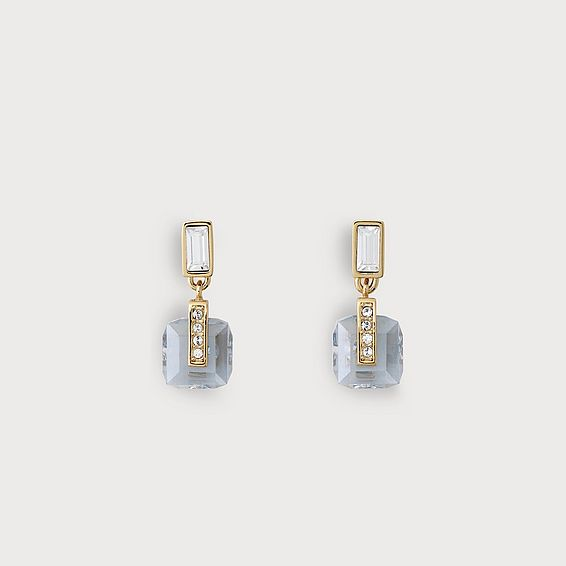 Gwen Blue and Gold Crystal Earrings