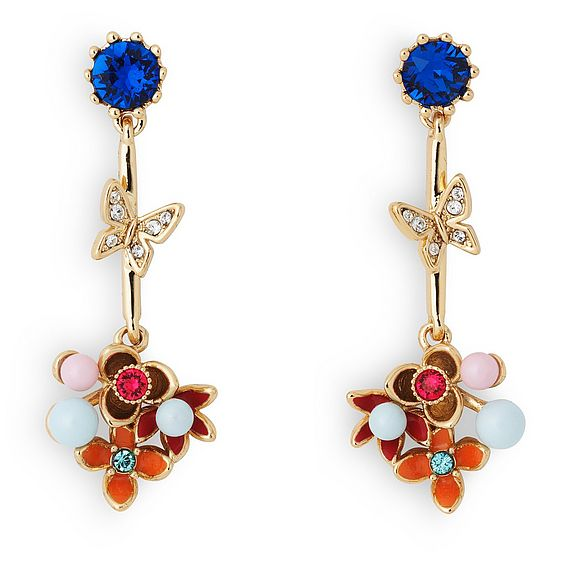 Maddie Floral Crystal Earrings