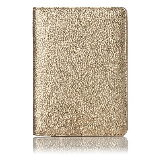 Paige Gold Passport Cover