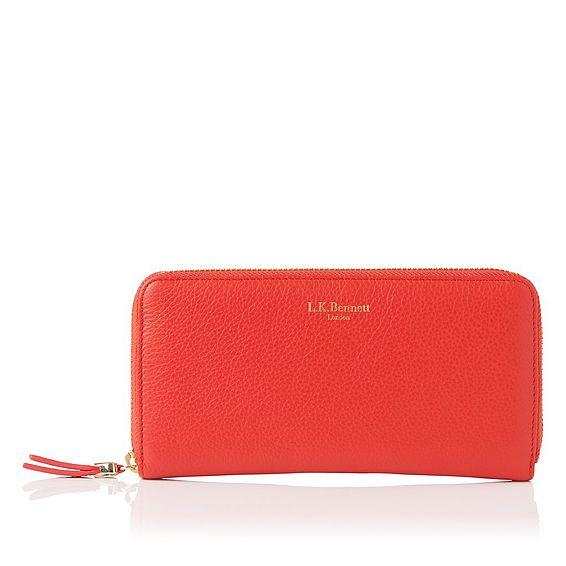 Kenza Orange Wallet