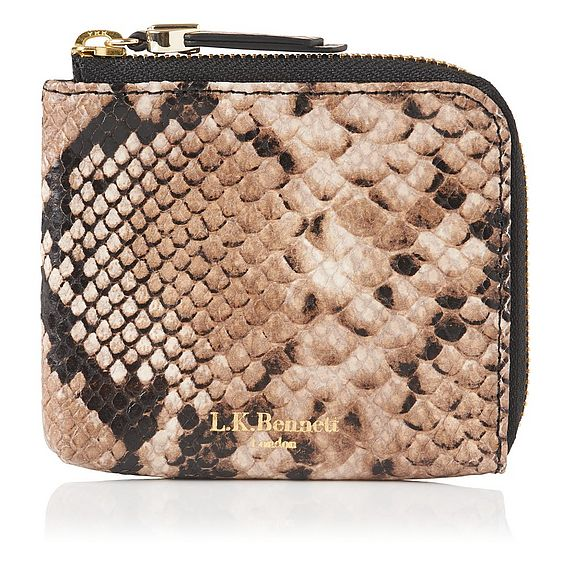 Penny Snake Print Wallet