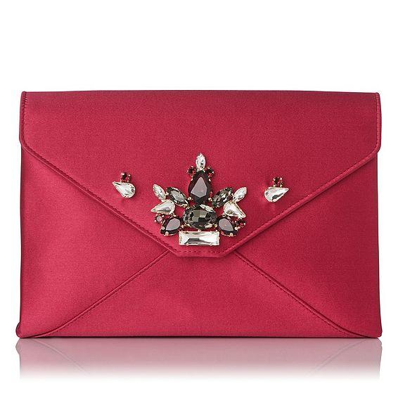 Alena Pink Envelope Clutch